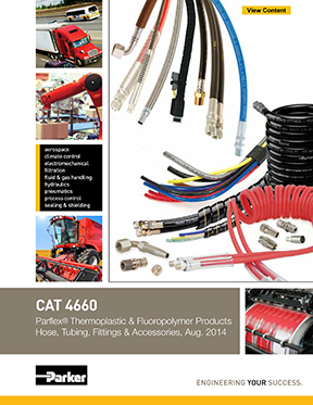 Parker Catalog: Parflex Thermoplastic Hose and fittings